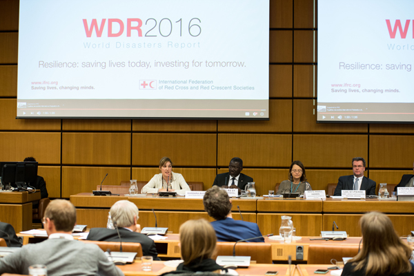 World Disasters Report 2016 panel