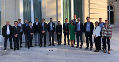 Participants of the High-level Risk Forum held at OECD, from Austria, Canada, Colombia, France, Germany, Italy, Japan, the US