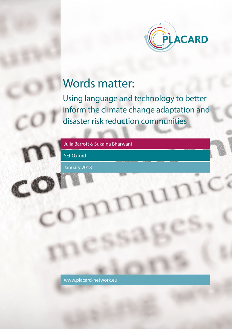Cover of Words mater policy brief report